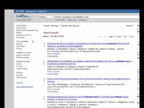 Using PubMed Filters