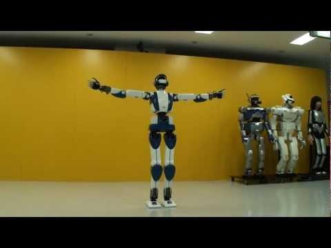 [HD] HRP-4 Humanoid Robot Walking Like A Real Human!!!