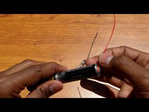 How to Make an Easy Battery Powered Flashlight