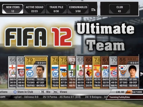 FIFA 12' Ultimate Team - Tubby FC - A Good Starting Squad (FIFA 12 Gameplay)