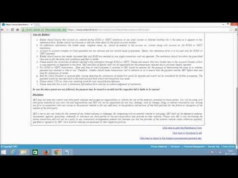 Kerala e- Procurement-procedure for RTGS/NEFT transfer(For Bidders)