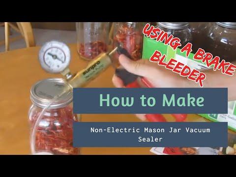 DIY Mason Jar Vacuum Sealer