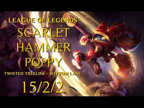 League of Legends - FIRST GAMEPLAY VIDEO (Poppy - Twisted Treeline Bottom Lane)