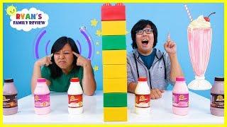 Twin Telepathy Milkshake Challenge with Ryan