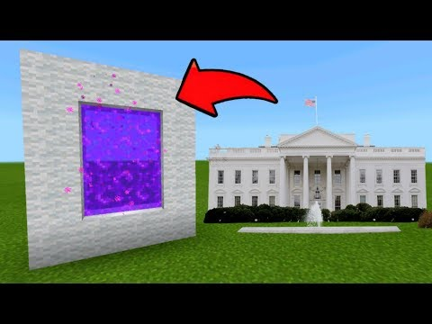 Minecraft Pe How To Make A Portal To The White House Dimension - Mcpe Portal To The White House!!!