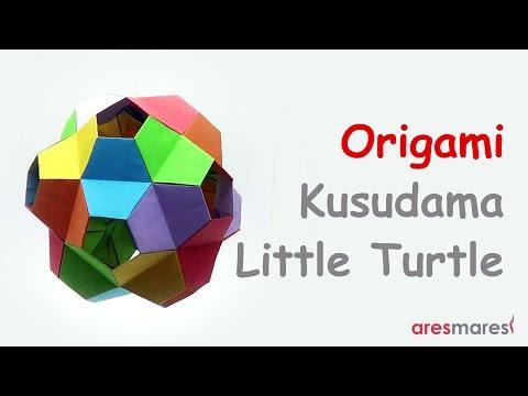 Origami Kusudama Little Turtle (intermediate - modular)