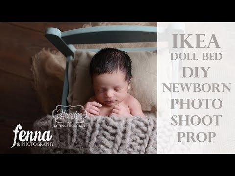 IKEA Doll Bed Newborn Photoshoot Prop DIY (Annie Sloan Chalk Paint) - IKEA poppenbedje (Krijtverf)