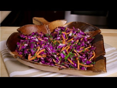 How to make Red Cabbage Salad (Assyrian Food)