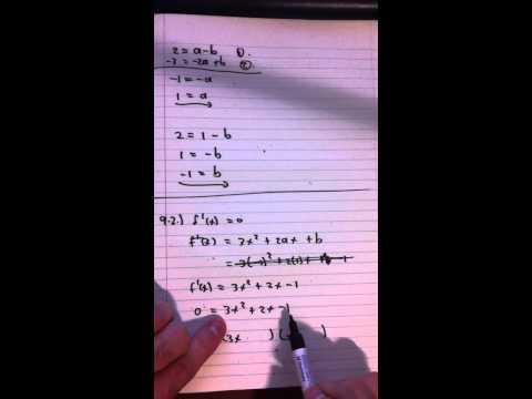 Question 9 (Cubic Function)