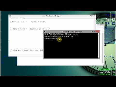 [Virus ] UNHIDE Hidden folders /files in pen drive [CMD ]