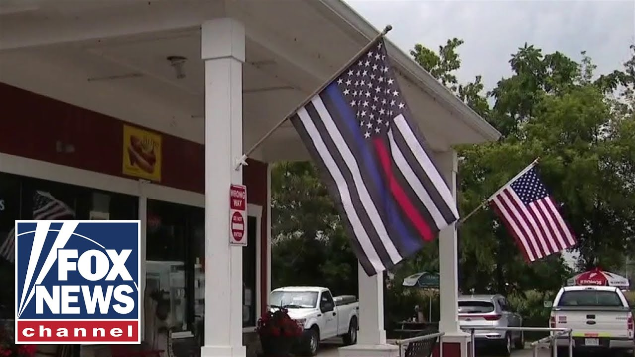 Restaurant owner fined for flying American flag