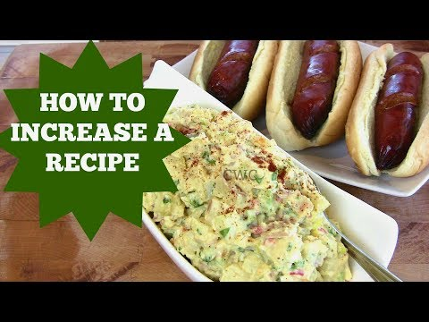 HOW TO MULTIPLY A RECIPE UP- HOW TO INCREASE A RECIPE |Cooking With Carolyn