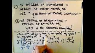 Shortcut To Find Horizontal Asymptotes Of Rational Functions