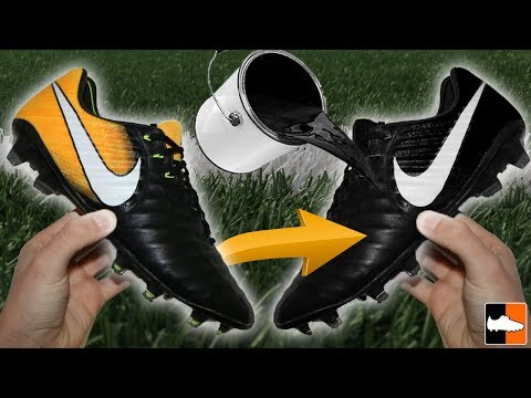 How To Blackout Leather & Flyknit Football Boots! Custom Cleats Tutorial