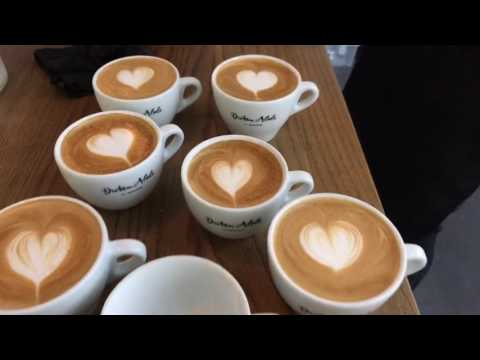 Barista Tutorial Live Part 3: Latte Art Basics - Heart, Rosetta, Tulip!