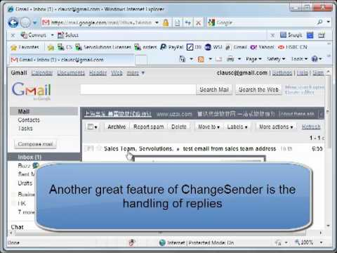 ChangeSender - choose your own sender address in Outlook with Exchange