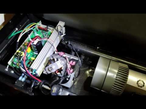Pro-Form CST 505 Treadmill Belt Adjustment and internals view