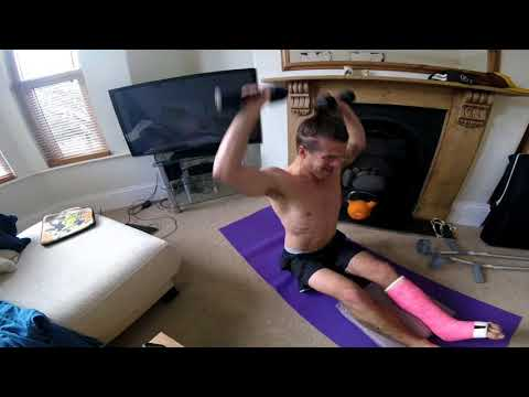 Day 31 Broken leg / workout / Exercise / Broken ankle