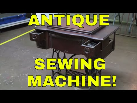 Look What I Found Online Auction Preview-Antique Sewing Machine!