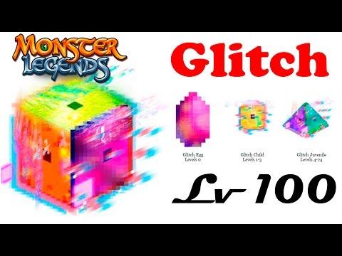 Glitch монстр на прокачку Monster Legends