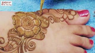 Mehndi Designs For Legs | Simple Arabic Mehndi Design | Mehandi Designs #19 @ jaipurthepinkcity
