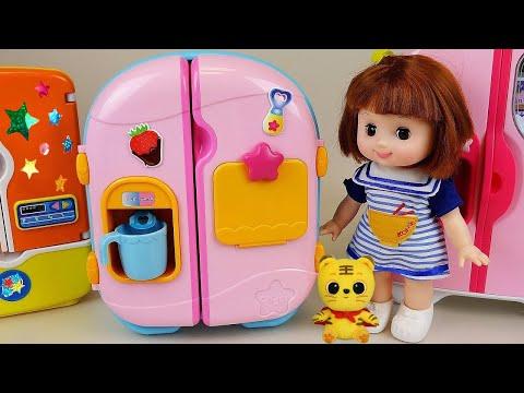 Baby Doll Refrigerator toys & Pororo Food toys