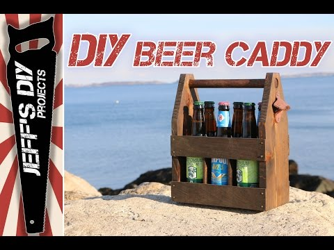 How to Make a Wooden Beer Caddy / 6 pack Beer Carrier