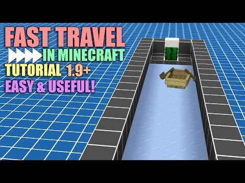 FAST TRAVEL IN MINECRAFT TUTORIAL (1.9+) | Packed Ice and Boat System | Automatic Boat Loader
