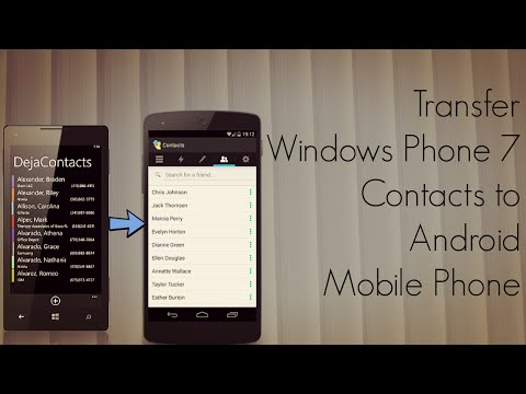 Transfer Windows Phone 7 Contacts to Android Mobile Phone ☆☆☆☆☆