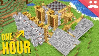 1 Hour Minecraft Base... In ONE TAKE!