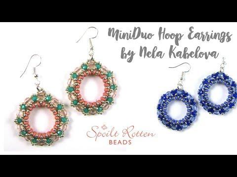 MiniDuo Hoop Earrings by Matubo