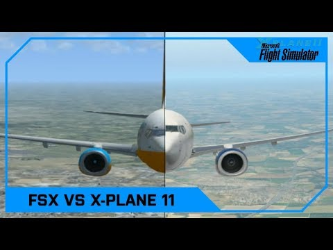 Microsoft Flight Simulator X vs X-Plane 11 (Vanilla, No mods!)