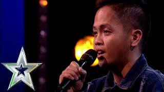 Nervous singer Rodelle from the Philippines lights up the stage | Ireland's Got Talent 2019