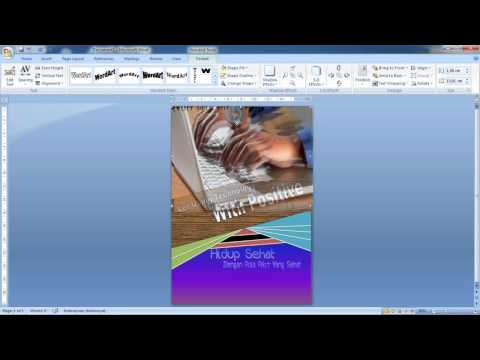 Tutorial Simple Poster By MS. Word | MLGs Video Collection