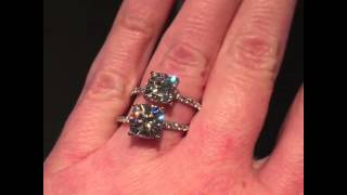cc3ff75ec63267 00:16 · Eliza Ring - Cushion cut Forever Brilliant Moissanite Engagement  Ring