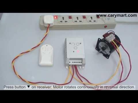 110V 220V Forward & Reverse Motor Remote Controller Timed Shut Off