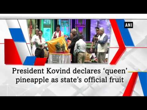 President Kovind declares 'queen' pineapple as state's official fruit