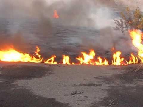 Lava Burns Road, Again
