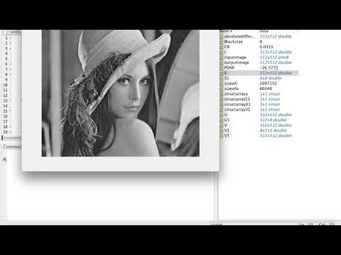 Image compression using SVD(greyscale image) using MATLAB