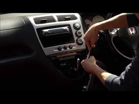 How To Remove Civic Type R Head Unit CD Player EP3 2001 - 2005