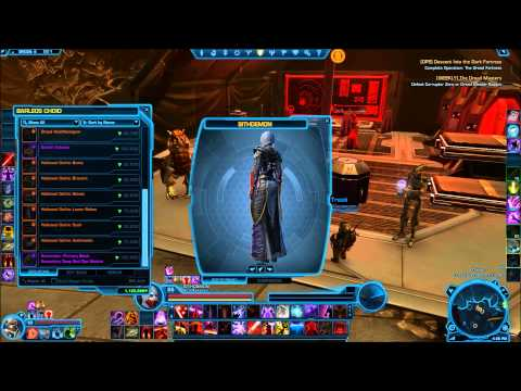 SWTOR Oricon Female Dread Executioner Reputation Gear Preview - Update 2.4