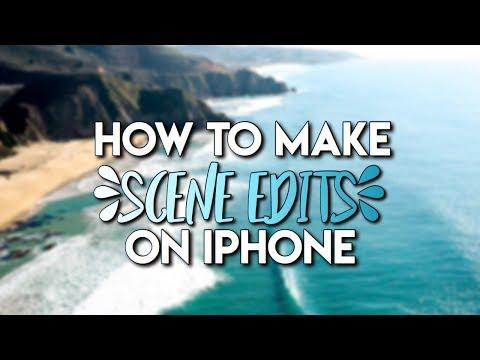 How to make scene edits on iPhone! // hgtutorials