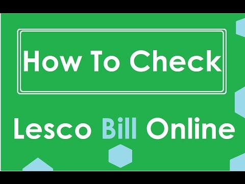 How to Check Lesco Bill Online