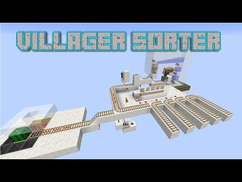 Minecraft Tutorials - Villager Minecart Sorting System (Works in 1.12)