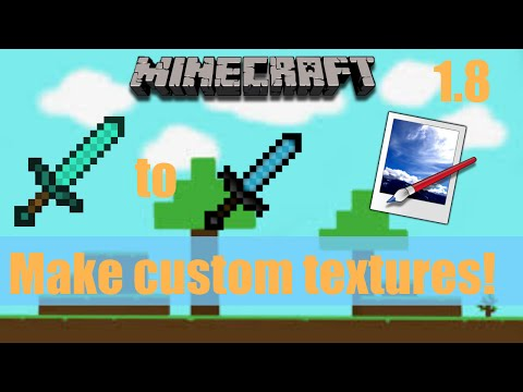 How to make a custom sword in Paint.net | Minecraft tutorial | 1.8
