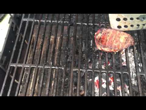 Grilling Sirloin Steaks Over Lump Charcoal