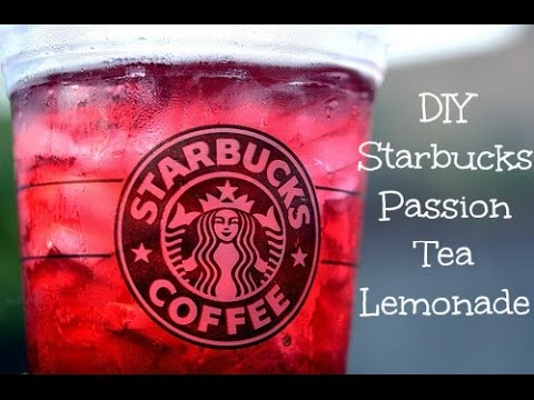 DIY: Starbucks Passion Tea Lemonade!