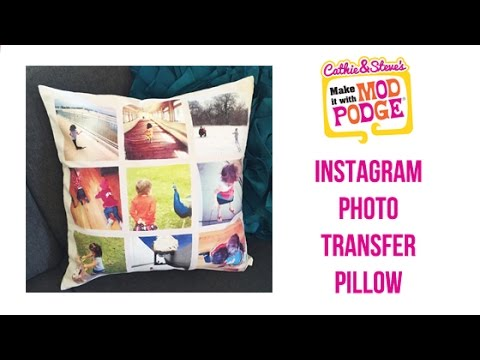 How to DIY Instagram Photo Transfer Pillows