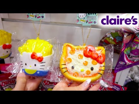 8 NEW BRANDS OF SQUISHIES AT CLAIRE'S! SANRIO HELLO KITTY, JOJO SIWA AND MORE!