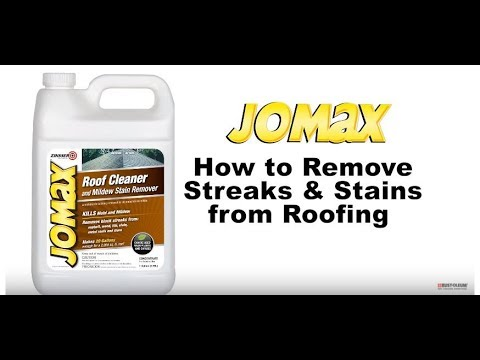 How to Clean Your Roof with Jomax Roof Cleaner